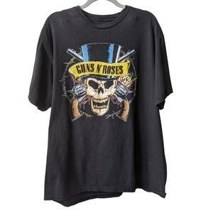 Guns & Rose Band Logo Black Cotton T-shirt sz XL